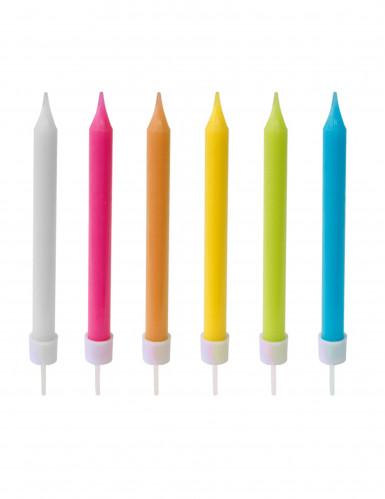 10 Farbkerzen