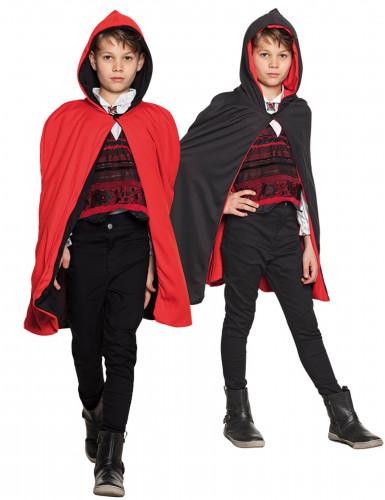 Umhang rot und schwarz wenbar Kinder Halloween
