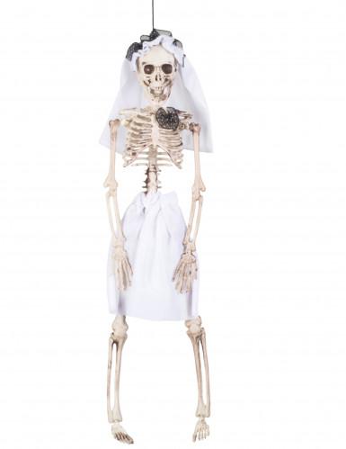 Halloween Dekoration Hängendes Braut Skelett 40 cm