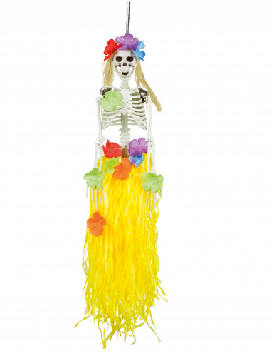 Hänge-Deko Skelett Hawaii 90 cm Halloween