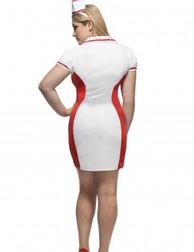 Krankenschwester Kostüm für Damen Plus Size-2
