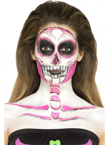 Formbares Latex Skelett Halloween Make-up bunt