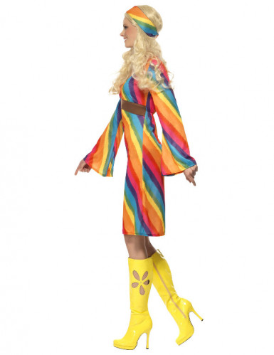 Hippie-Kostüm Regenbogen Damen-2