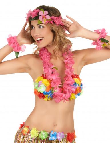 Hawaii Set rosa für Erwachsene