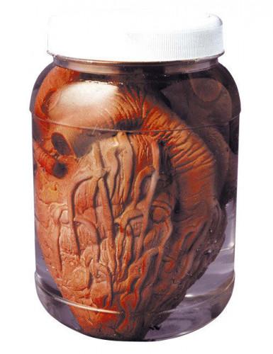Gruseliges Herz im Glas