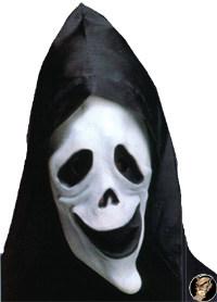 Nachtleuchtende Geistermaske mit Kapuze Halloween
