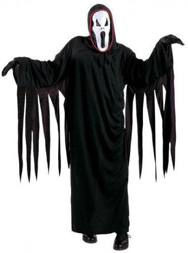 Geist Halloween - Kinderkostüm schwarz-weiss
