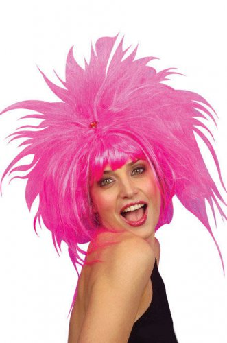 Pinke Punk Perücke für Damen