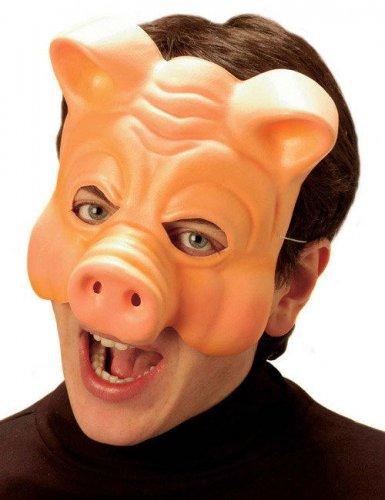 Halbmaske Schwein Erwachsene