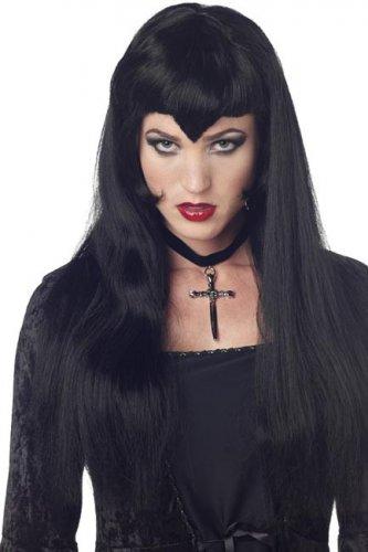 Gothic Vampir-Perücke für Damen schwarz