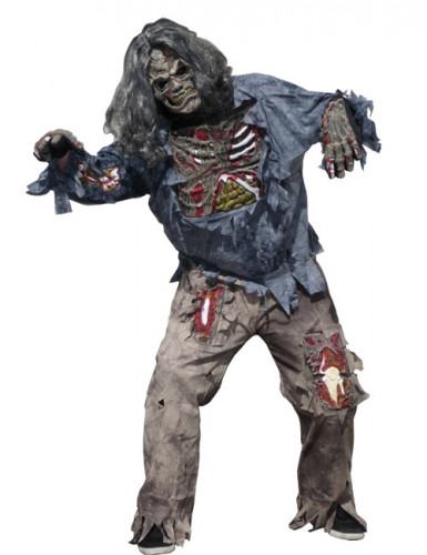 schreckliches zombie kost m herren halloween kost me f r erwachsene und g nstige. Black Bedroom Furniture Sets. Home Design Ideas