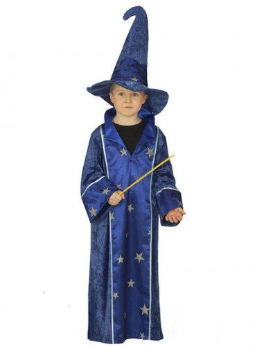 Kinder-Kostüm - Zauberer - blau