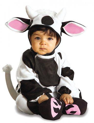 Kuh-Kostüm für Babys in Schwarz-Weiß-Rosa