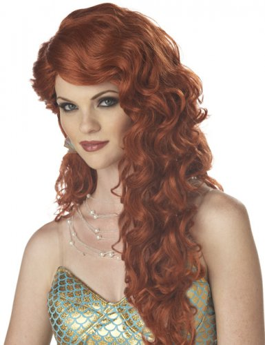 Auburn Meerjungfrau Perücke für Damen