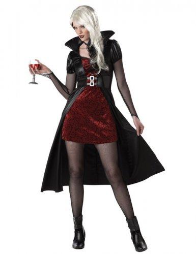 Verkleidung Vampir für Damen rot