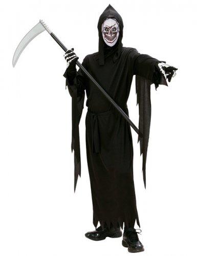 Sensenmann Halloween-Kostüm für Kinder schwarz