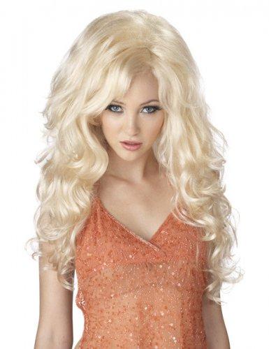 Sexy blonde Perücke Zubehör Damen