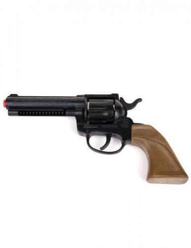Cowboy-Pistole Kostümzubehör Spielzeug-Waffe schwarz 22cm