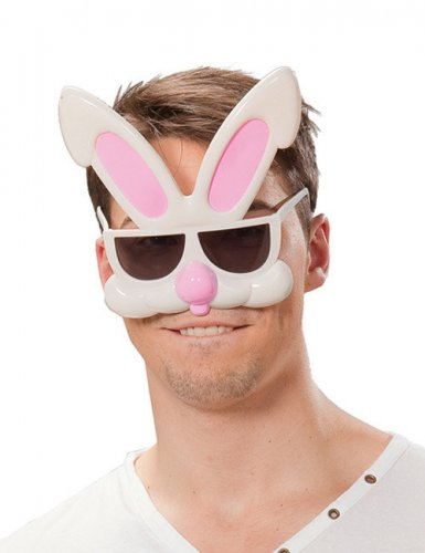 Lustige Hasenbrille für Erwachsene
