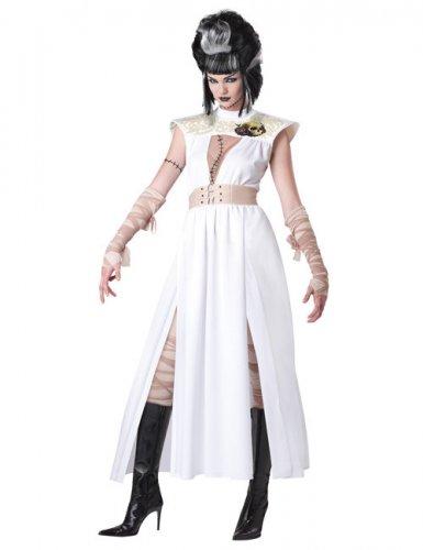 Zombie-Damenkostüm Leiche Halloween weiss-beige