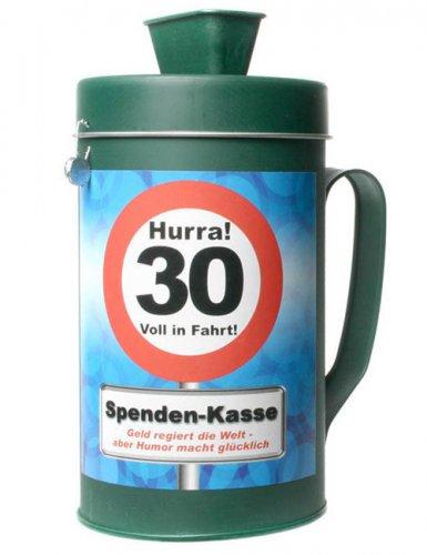 Witzige Spendenkasse zum 30. Geburtstag