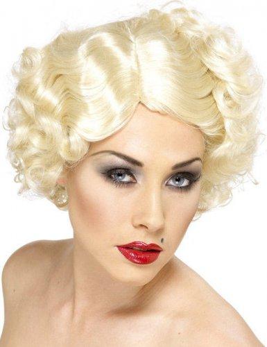 Kurze Perücke Platin blonde Stern Damen