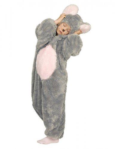Maus Kinder-Kostüm grau-weiß