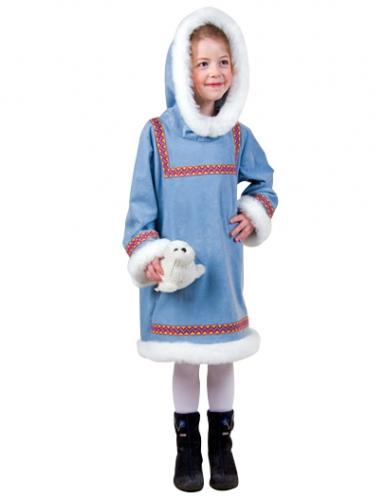 Warmes Eskimo-Kostüm für Kinder blau