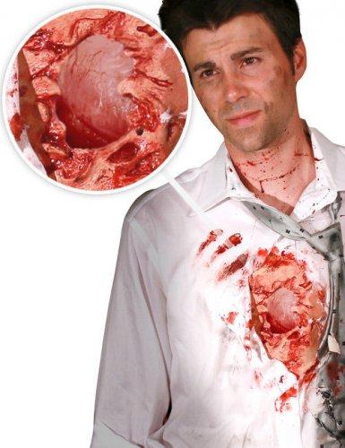 Accessoire Morphsuits? offene Wunde für Erwachsene