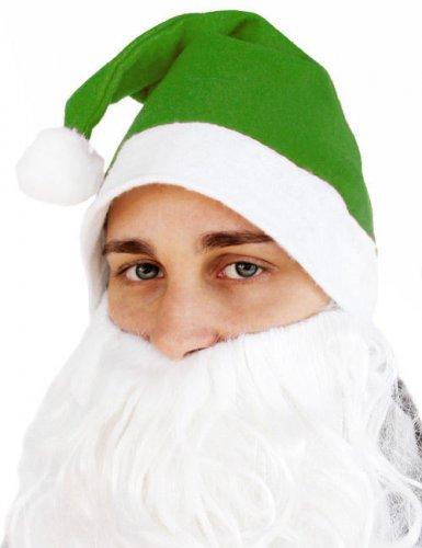 Grüne Weihnachtsmann Mütze für Erwachsene