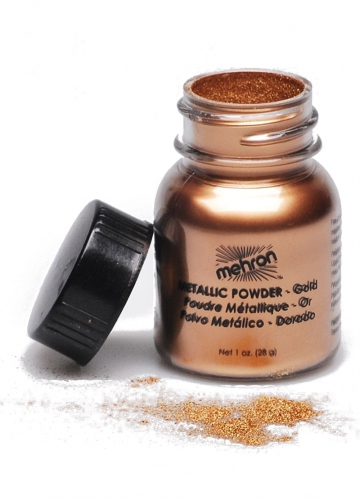 Metallic-Puder Mehron Make-up Zubehör gold 14g