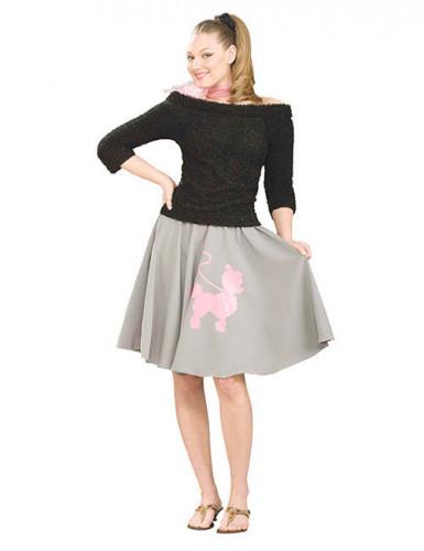 Schulterfreier Kuschelpullover 50er-Jahre-Pullover schwarz