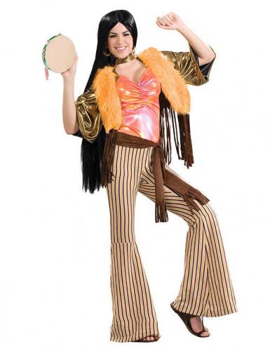 Hippie-Verkleidung für Damen 60er 70er Jahre bunt M / L