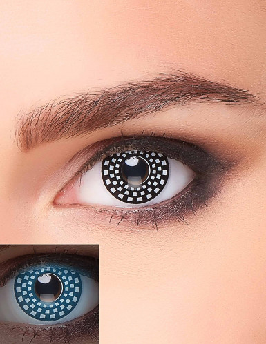 Kontaktlinsen für Erwachsene im Raster-Design