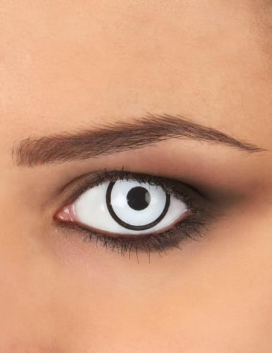Kontaktlinsen weißes und schwarzes Kostüm 1 Jahr Erwachsene