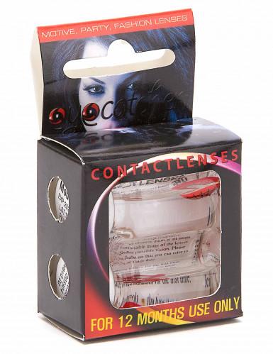 Accessoires Kontaktlinsen Verrückte Katze für Erwachsene-1