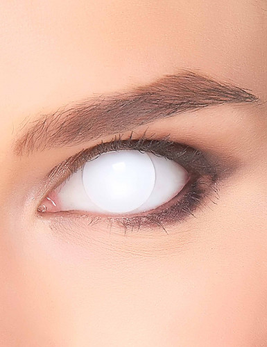 Geister-Kontaktlinsen für Erwachsene in weiß