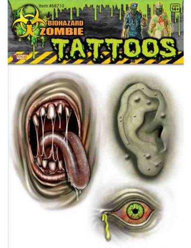 Grüner Zombie Tätowierungen Halloween