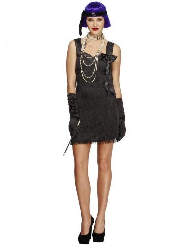Charleston Kostüm mit schwarzer Schleife für Damen