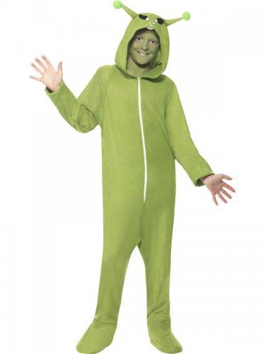 Alien Ausserirdischer Kostüm in Grün