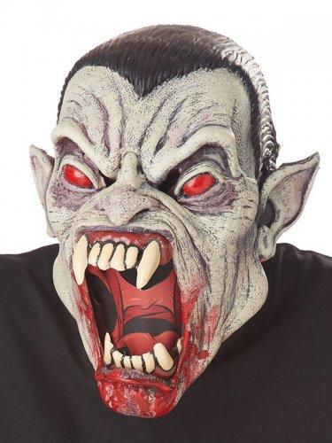 Vampir-Maske Halloween-Monster animiert Kostümzubehör schwarz-grau-rot