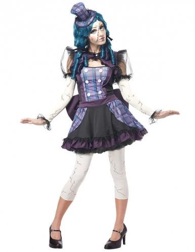 Verkleidung Zerbrochene Halloween-Puppe für Damen