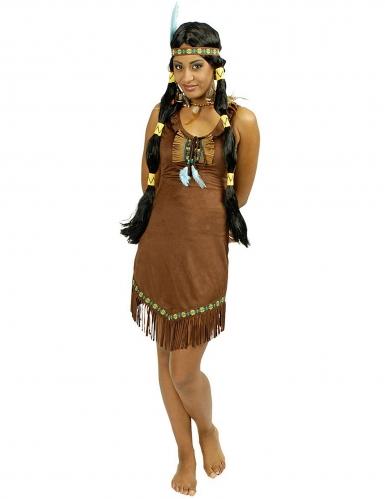 Indianer-Kostüm für Damen braun