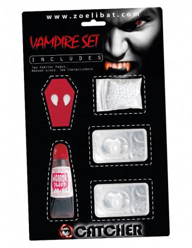 Vampirzähne-Schminkset 3-teilig Make-up Halloween
