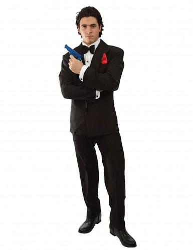 Geheimagent Kostüm für Herren Auftragskiller schwarz