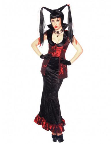 Sexy Haxenkostüm für Damen aus Samt Halloween