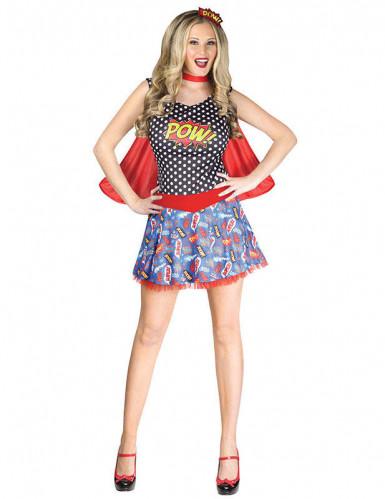 Comic-Superhelden-Kostüm Damen M / L