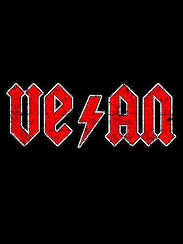Vegan T-Shirt für Frauen schwarz rot -1