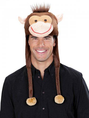 Affen-Mütze für Erwachsene Plüsch