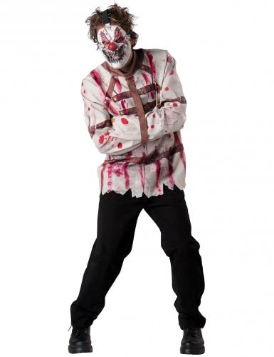 Psycho Clown Zwangsjacke Kostüm für Halloween